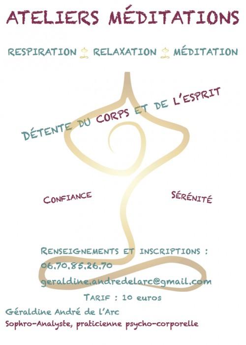 Ateliers méditations - Un Voyage au Coeur de Soi - Sophro-Analyse